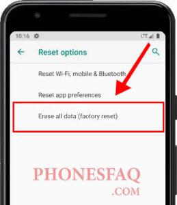 Samsung Hard Reset Erase all data (factory reset)