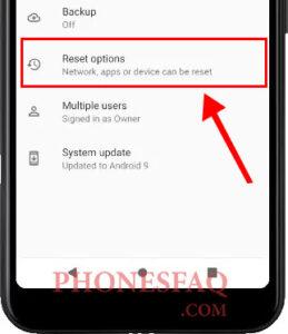 Samsung Hard Reset Options