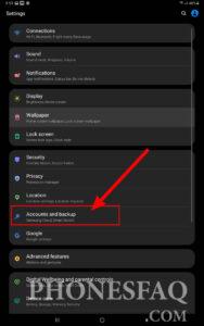Remove Google Account & Backup Option